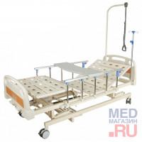 Кровать функциональная механическая с ростоматом и полкой