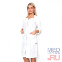 Халат медицинский женский М 09 ткань Тиси, молния