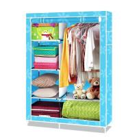 Тканевый шкаф для одежды, голубой