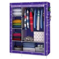 Тканевый шкаф для одежды, фиолетовый
