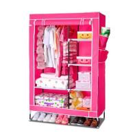 Тканевый шкаф для одежды, розовый