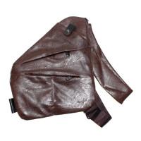 Мужская сумка кобура из кожи Fino, коричневый