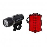 Комплект светодиодных фонарей на велосипед