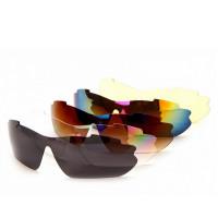 Очки спортивные солнцезащитные с 5 сменными линзами