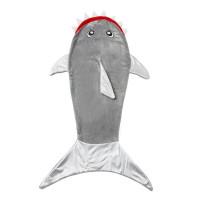 Одеяло плед Акула, 120х48 см