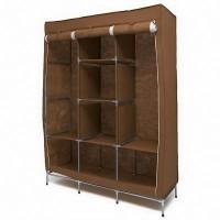 Мобильный тканевый шкаф Storage Wardrobe, коричневый