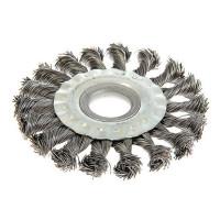 Щетка металлическая для УШМ Tundra Basic, крученая
