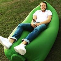 Надувной диван Биван   гамак Ламзак, зеленый