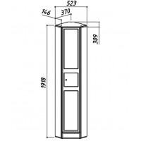 Пенал BELUX Адажио 380 мм угловой белый