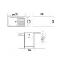 Мойка для кухни UKINOX Классика 760x435х140