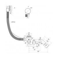 Сифон для ванны АНИ Пласт EM421 полуавтомат