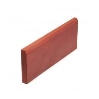 Бордюр тротуарный вибролитьевой  500х210х40 мм красный