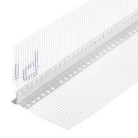 Профиль капельникуглозащитныйпластиковый,ссеткойизстекловолокна125 х125мм2,5м