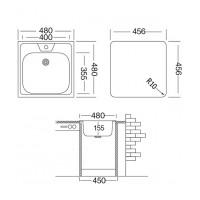 Мойка для кухни UKINOX Классика 480x480х155