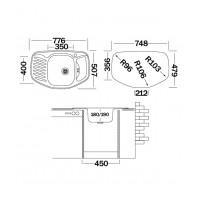 Мойка для кухни UKINOX Комфорт 776х507х180