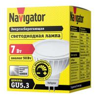 Лампа светодиодная Navigator 7 Вт GU5.3 рефлектор