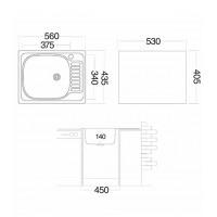 Мойка для кухни UKINOX Классика 560x435х140
