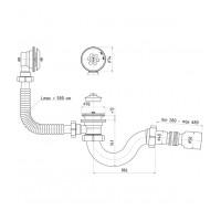 Сифон для ванны АНИ Пласт E155 прямоточный