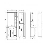 Зеркальный шкаф АСБ Мебель Грета 800