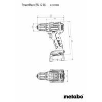 Дрель шуруповерт аккумуляторная Metabo PowerMaxx BS