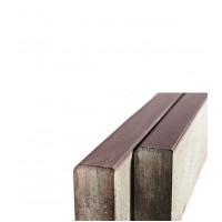 Бордюр тротуарный вибропрессованный 1000х200х80 мм коричневый