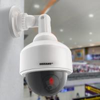 Муляж видеокамеры купольный Rexant уличная установка белый