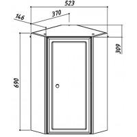 Шкаф BELUX Адажио 380 мм подвесной угловой