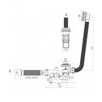 Сифон для ванны АНИ Пласт ЕС255S автомат