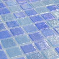 Мозаика Vidrepur Perla Blue синий перламутр стеклянная