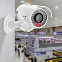 Муляж видеокамеры цилиндрический Rexant уличная установка белый