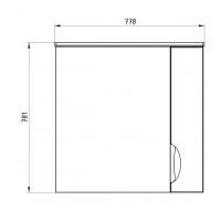 Зеркальный шкаф АСБ Мебель Миранда 800