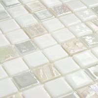 Мозаика Vidrepur Astro Blanco белая стеклянная 317х317х4