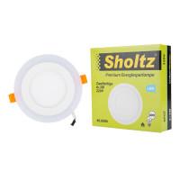 Светильник светодиодный встраиваемый Sholtz d142 мм двухцветный