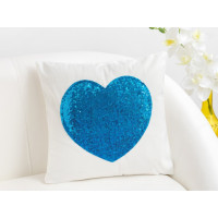 Наволочка Этель Сердце 40x40cm Blue 3919675
