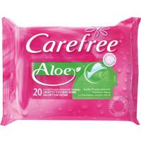 Салфетки влажные для интимной гигиены CAREFREE Алоэ