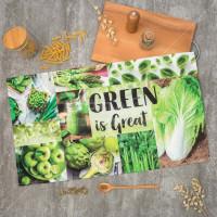 Полотенце кухонное, 40х73 см, Этель Зеленый 4136491