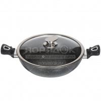 Сковорода жаровня с мраморным покрытием Daniks Олимп