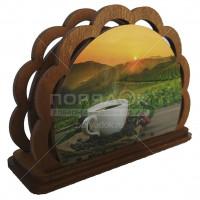Салфетница деревянная Кофе 2 Б 18