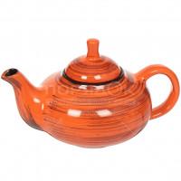 Чайник заварочный керамический, 700 мл, Кроха Оранжевая