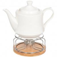 Чайник заварочный керамический, 1300 мл, с подставкой