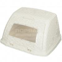 Хлебница пластиковая Альтернатива Плетенка М4902 слоновая кость,