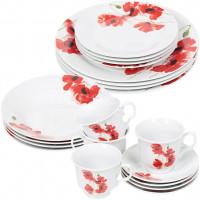 Сервиз столовый из керамики, 20 предметов, Красный