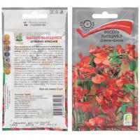Семена Фасоль Огненно красная вьющаяся в цветной