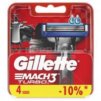Сменные кассеты для бритья Gillette Mach3 Turbo,