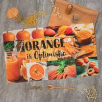 Полотенце кухонное, 40х73 см, Этель Оранжевый 4136490