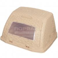 Хлебница пластиковая Альтернатива Плетенка М4903 светло коричневая,