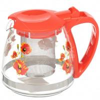 Чайник заварочный стеклянный, 700 мл, с фильтром