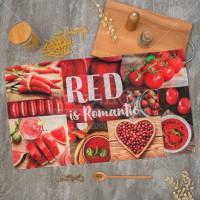 Полотенце кухонное, 40х73 см, Этель Красный 4136489