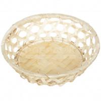Ваза для фруктов плетеная круглая бамбук 832101,