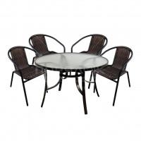 Мебель садовая Марсель (стол, стул 4 шт) WR2719,